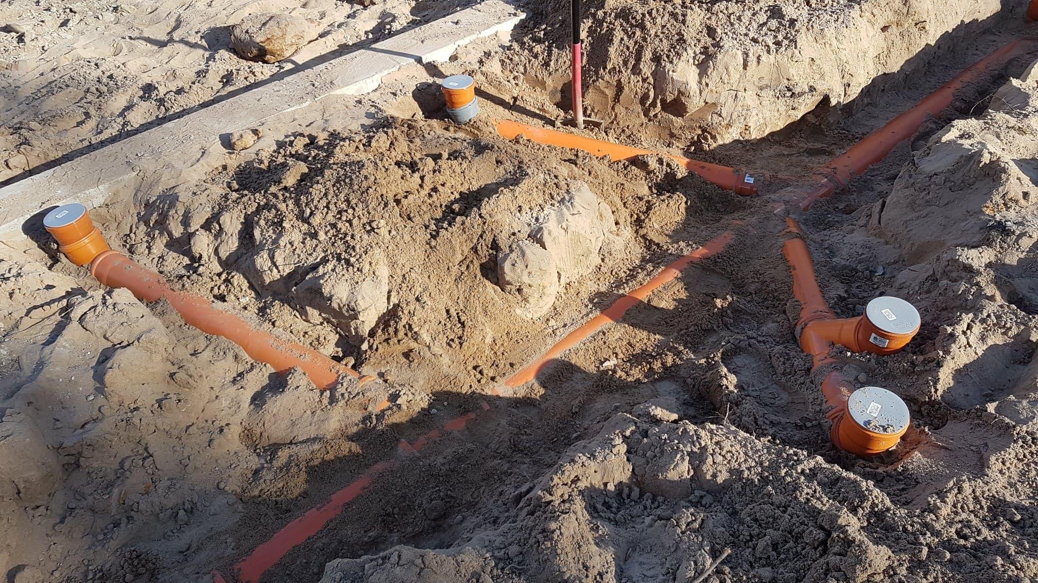 kanalizacja w nowym budynku