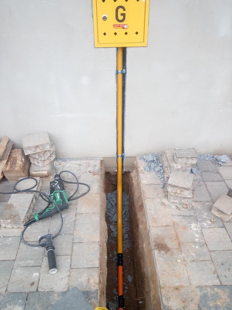 Zewnętrzna instalacja gazowa w Alojzowie
