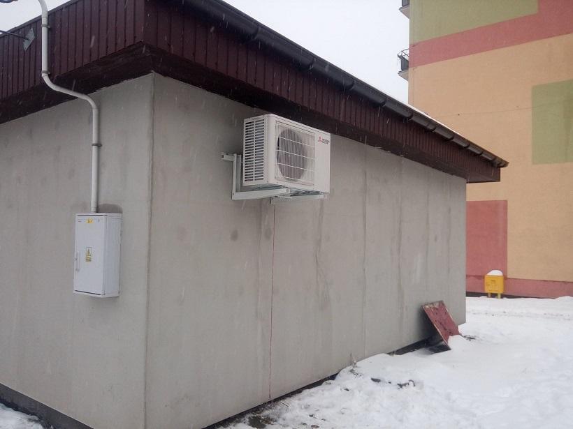 Klimatyzator Mitsubishi 5kW zamontowany w Starachowicach