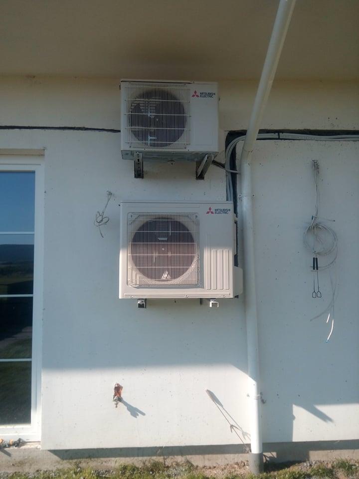 Dwa klimatyzatory MITSUBISHI zamontowane w Grabkowie.
