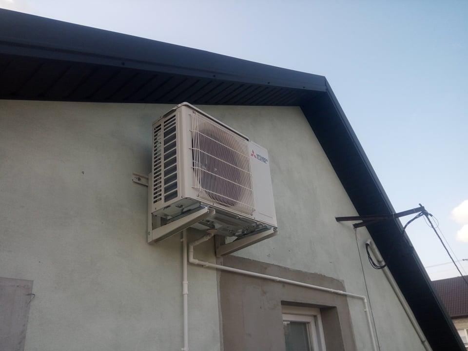 Klimatyzator Mitsubishi 3,5kw zamontowany w Lubieni