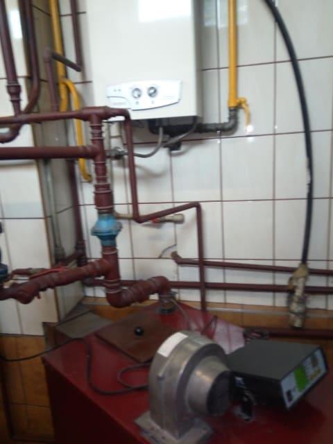 Kocioł gazowy WOLF zamontowany z Brodach