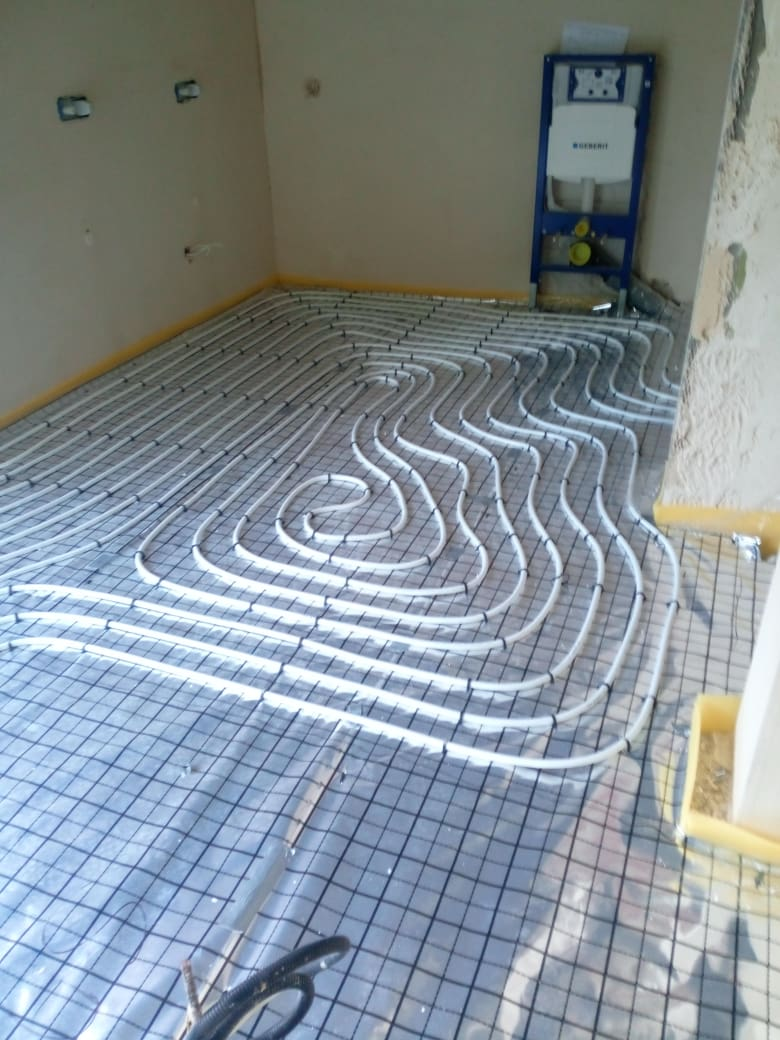 Ogrzewanie podłogowe w nowym domu w Starachowicach